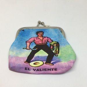 Handbags - Mexican lotería coin purse el valiente